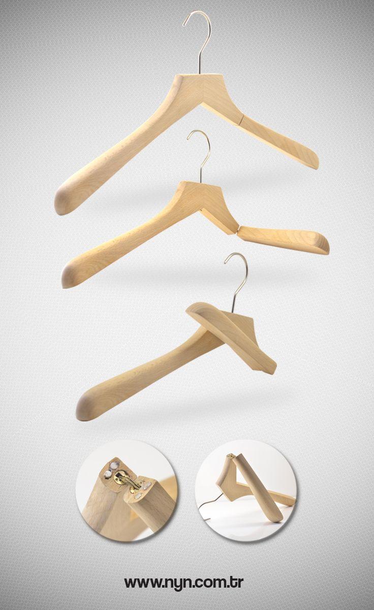 wooden portable hanger