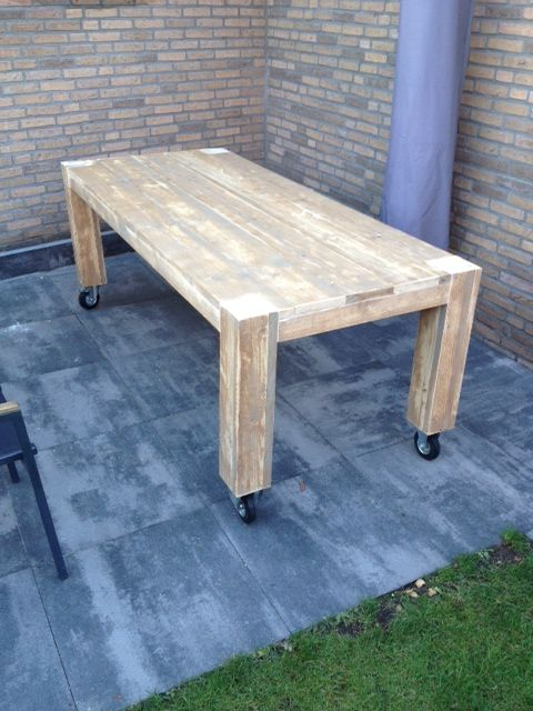 Dining Table Outdoor Wheels P R O J E C T S Pinterest