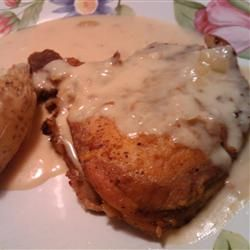 Slow Cooker Sour Cream Pork Chops..Be sure and use a thicker cut pork chop. Delicious!