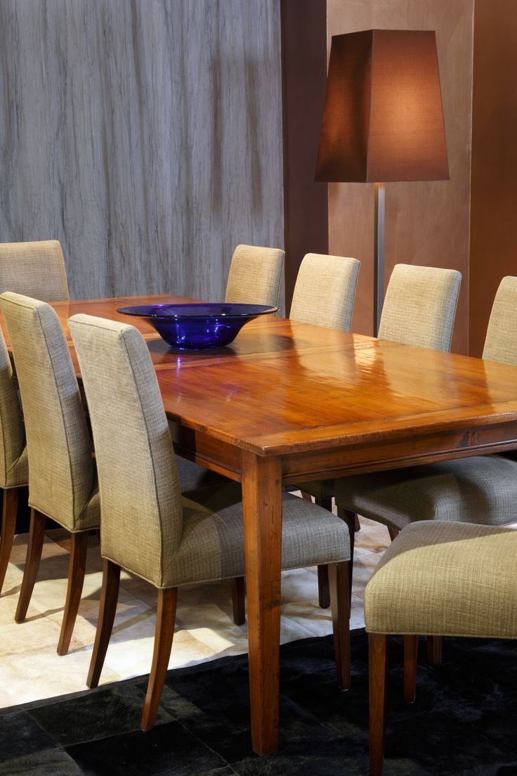 Provincial Extension Table - Side View  Cherry Wood