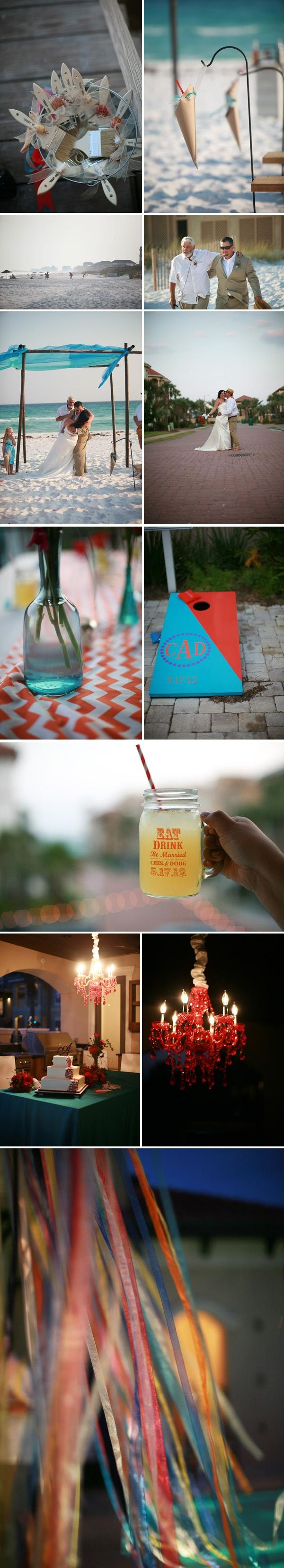 beach wedding   mason jars   cornhole games   destin, fl wedding    photos by shannon kelley
