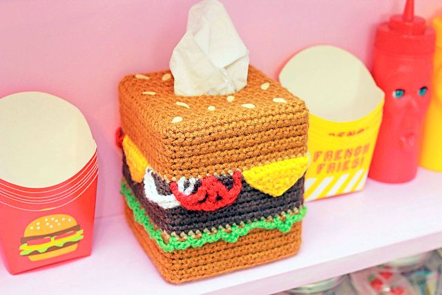 Twinkie Chan S Crocheted Abode A La Mode Amvabe Crochet Twinkie Chan Tissue Boxes Crochet Kitchen