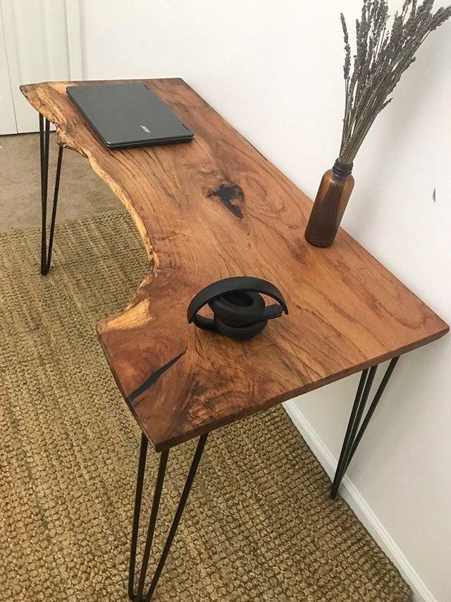 How To Build A Custom Pecan Desk Diy Wood Furniture Diy Diy