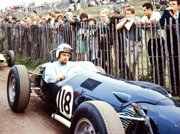 Peter Westbury, P99. Harewood Hillclimb 1964, he won the British Hillclimb Championship in the car that year