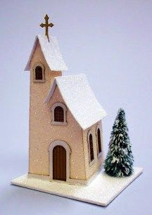 how to: making glitter houses (link for how to glitter the buildings: http://glitterhouses.blogspot.com/search/label/Chapel%20Assembly%20Instructions)