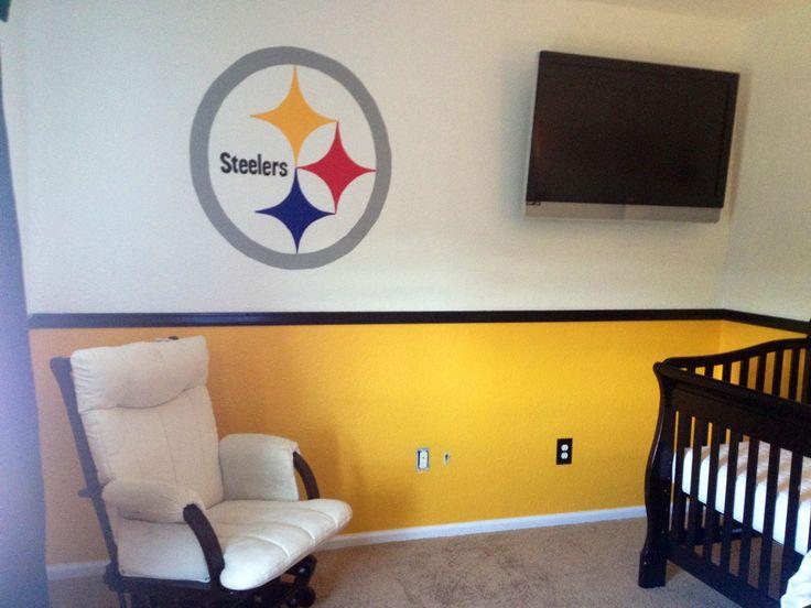 Steelers nursery. My husband would freak out. Hehe