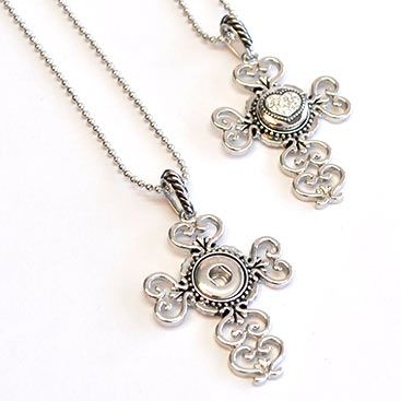 The perfect gift for gran, with this cross ginger snap necklace from Paradise Creative Crafts for R32.