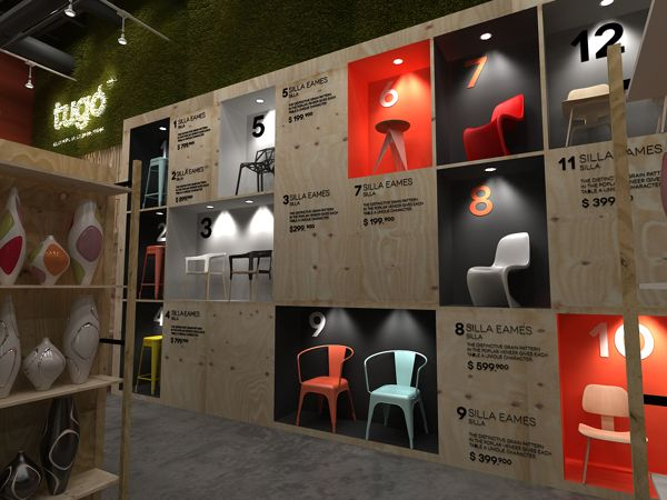 Exhibit Walls Filled With Furniture By Plasma Diseño, Via Behance