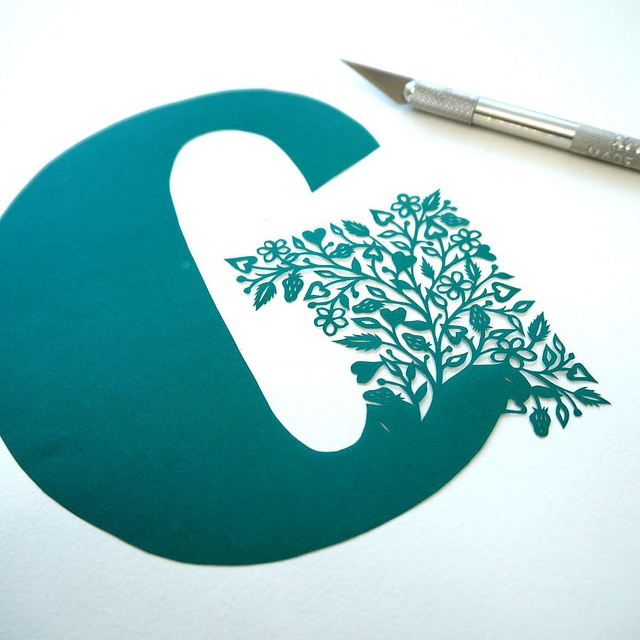 Papercut Initial (wip) by VegasLammy, via Flickr