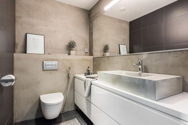 Tyylikäs wc betonipinnoilla - Etuovi.com Sisustus