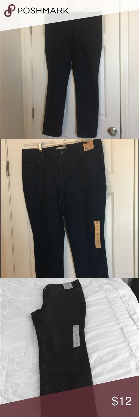 Slim fit jeans New black slim fit jeans. Converted size is 15/16. The jean length is 40 inches long. Route 66 Pants Skinny