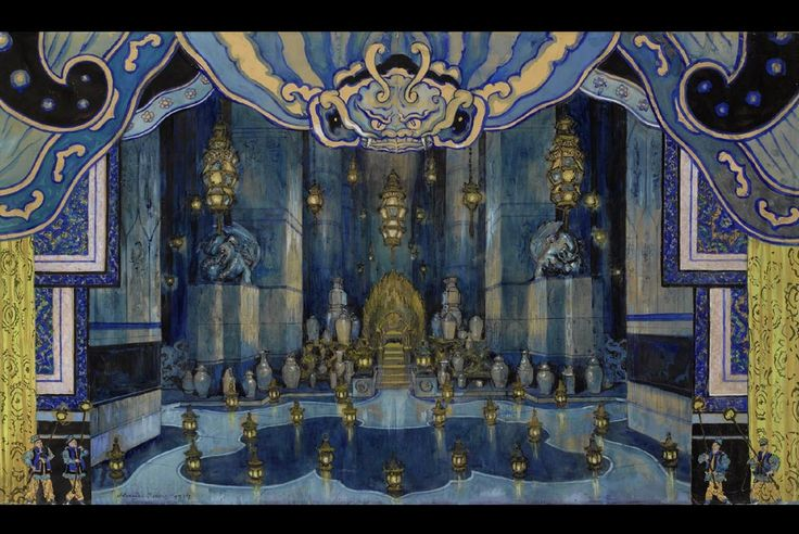Set Design for Le Rossignol (The Nightingale), 1914 by  Alexandre Benois (1870-1960)