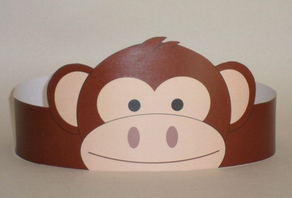 Monkey Crown Printable by PutACrownOnIt on Etsy, $2.00