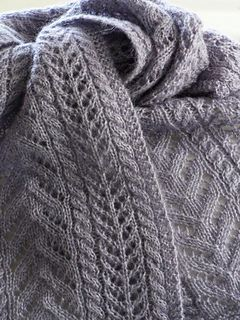 Really, why NOT mix up easy, pretty cable patterns to make a lovely shawl? Mindless knitting at it's best!