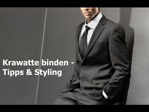 Krawatte richtig binden, einfacher Windsor / Knoten - Männermode, Modetrends, Tipps & Styling - YouTube