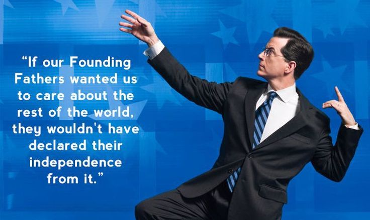 May we always remember Stephen Colbert from 'The Colbert Report.'