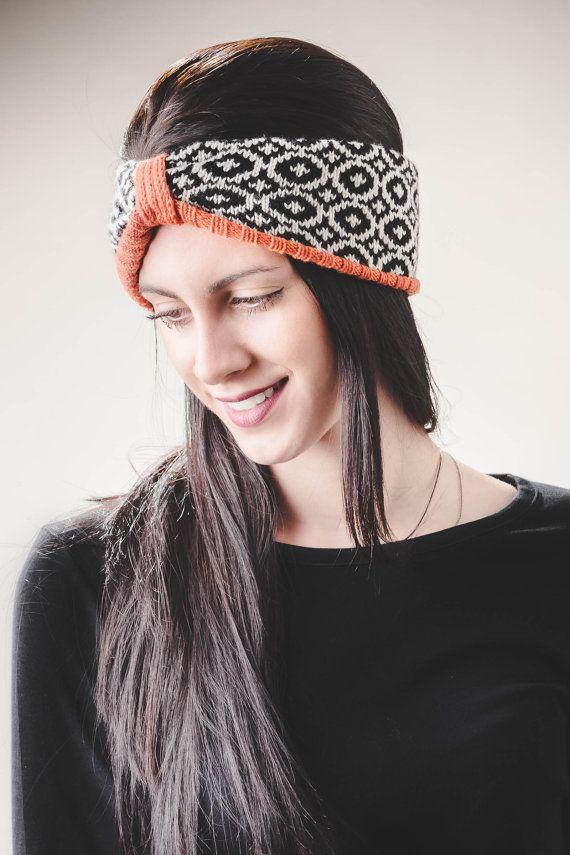 Womens Headband, Knitted Headband, Knit Hairband, Ready to ship, Winter Headband, Wool Headband, womens clothing gift, Turban Headband, Knit Turban .  -