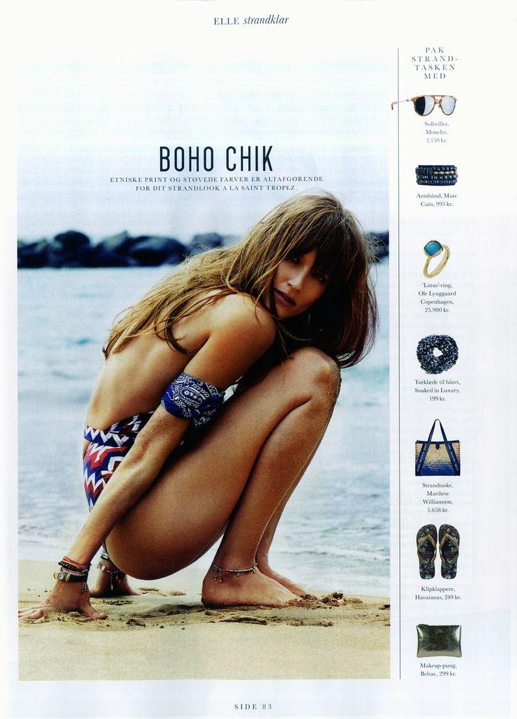 Soaked in Luxury scarf in danish ELLE magazine