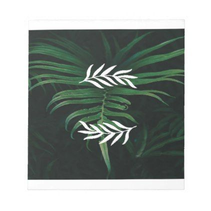 palm trees notepad - drawing sketch design graphic draw personalize