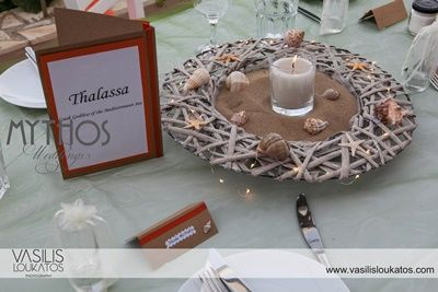 Guests' table decoration suitable for beach wedding - receptions #tabledecoration #beachweddings
