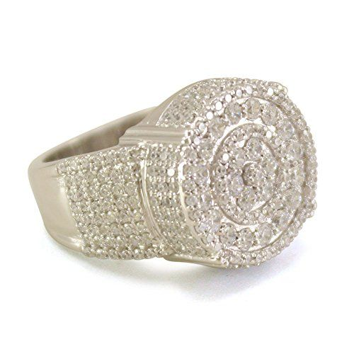 Lilu Jewels Stunning Sterling Silver Platinum Plated With White Simulated Diamonds Pinky Ring For Men--119.25 Check more at https://www.thesterlingsilver.com/product/lilu-jewels-stunning-sterling-silver-platinum-plated-with-white-simulated-diamonds-pinky-ring-for-men/
