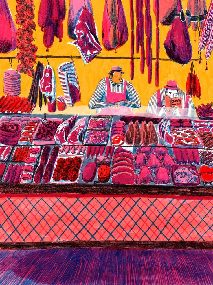 Butcher's. By Mouni Feddag #illustration #butchers #meat