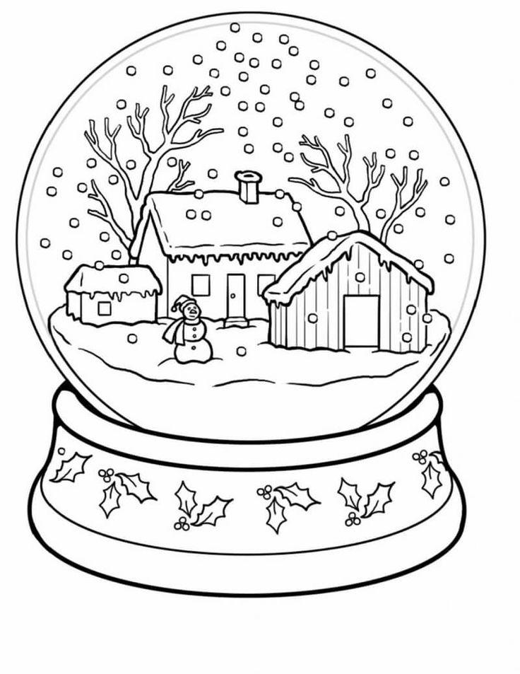 coloring pages winter wonderland 2020  schneekugel