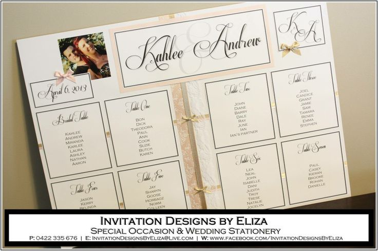 Seating Plan  {Wedding} Pink, White & Gold Theme www.facebook.com/InvitationDesignsByEliza