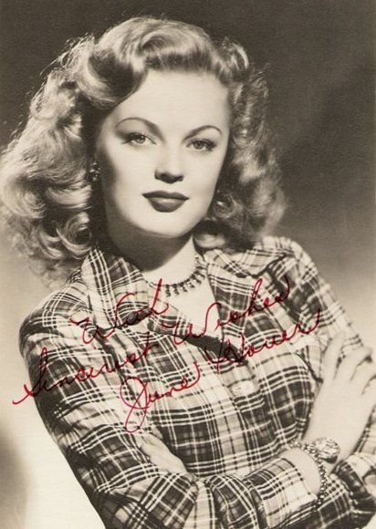 """June Haver (1926 - 2005) Sunny, blonde actress known especially for her appearances in 1940s movie musicals, including """"The Dolly Sisters"""", """"Three Little Girls in Blue"""", and """"Oh, You Beautiful Doll"""""""