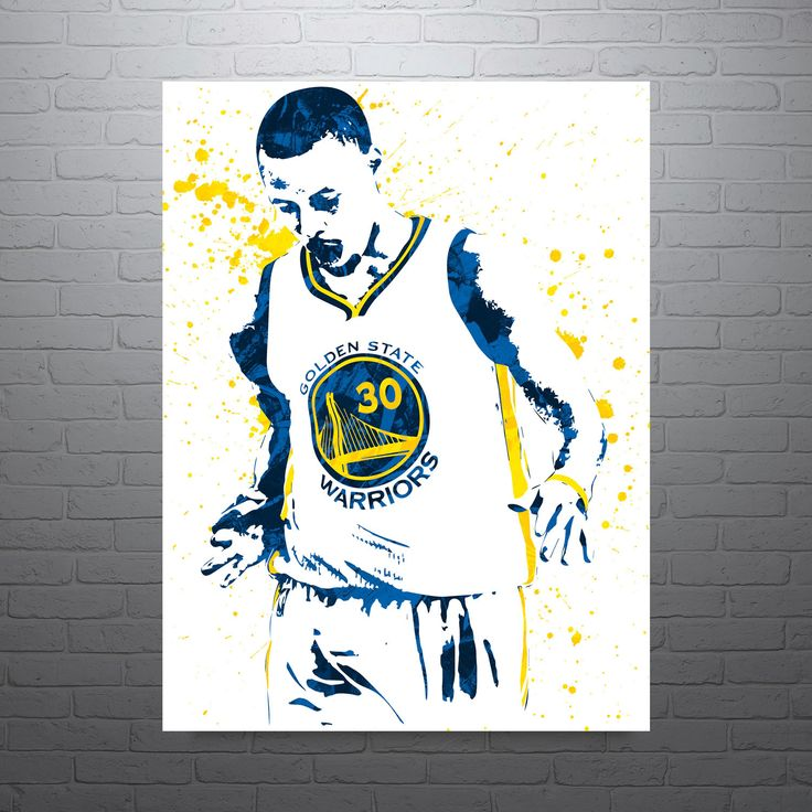Stephen Curry Golden State Warriors Basketball Poster