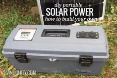 How we built an affordable, quality solar generator that will power our Tiny House. DIY Portable Solar Power. Parts list + instructions.