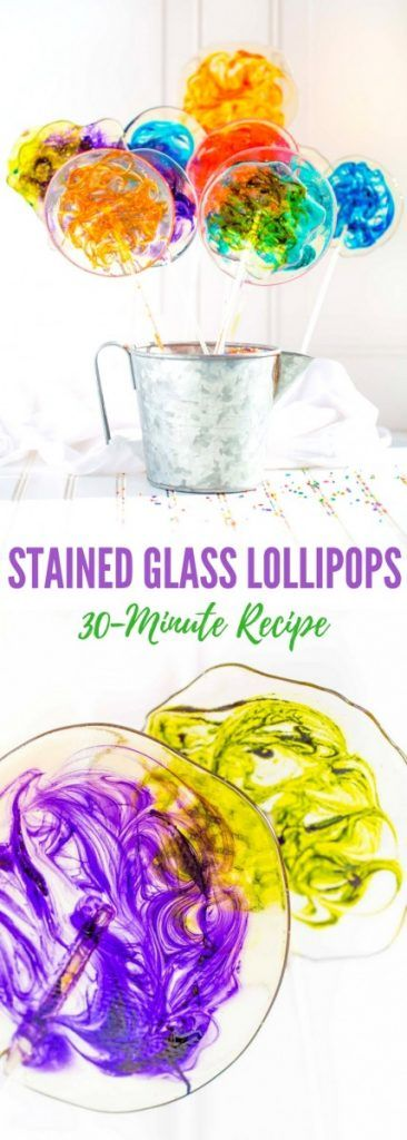 Stained Glass Lollipops with Colorful Swirls