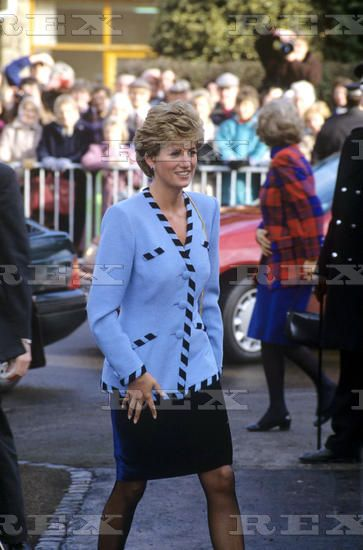 21 January 1993: Princess Diana visits Walthamstow Asian Centre in Nottingham.