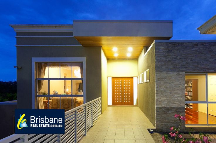 Love the modern cladded Porch roof
