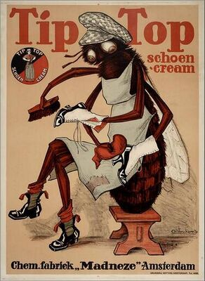 Vintage ad for Tip Top shoe cream.