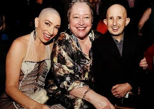 Naomi Grossman (Pepper), Kathy Bates (Ethel) and Ben Woolf (Meep) at the Freak Show premiere | American Horror Story Cast