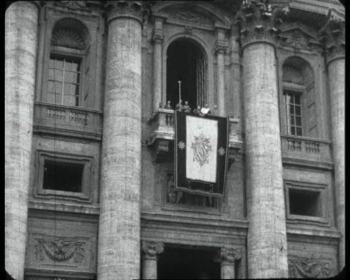 March 2013: Pope Pius XI appears on the balcony for the first time in this newsreel (1922). Follow link to view the film.