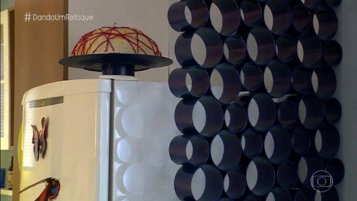 Divisória feita com tubos de PVC pintados #MaisVocê
