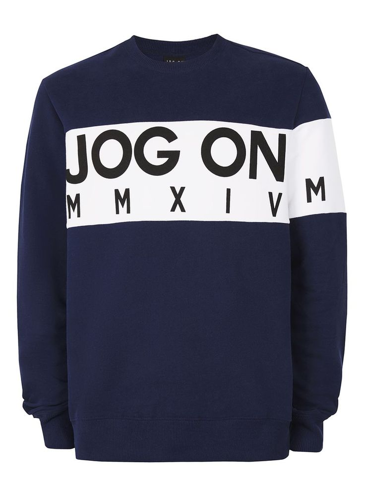 JOG ON Navy Bold Logo Sweatshirt*