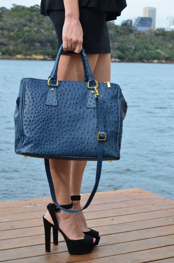Tornabuoni Top Handle Leather Bag in ostrich print  www.bidinis.com