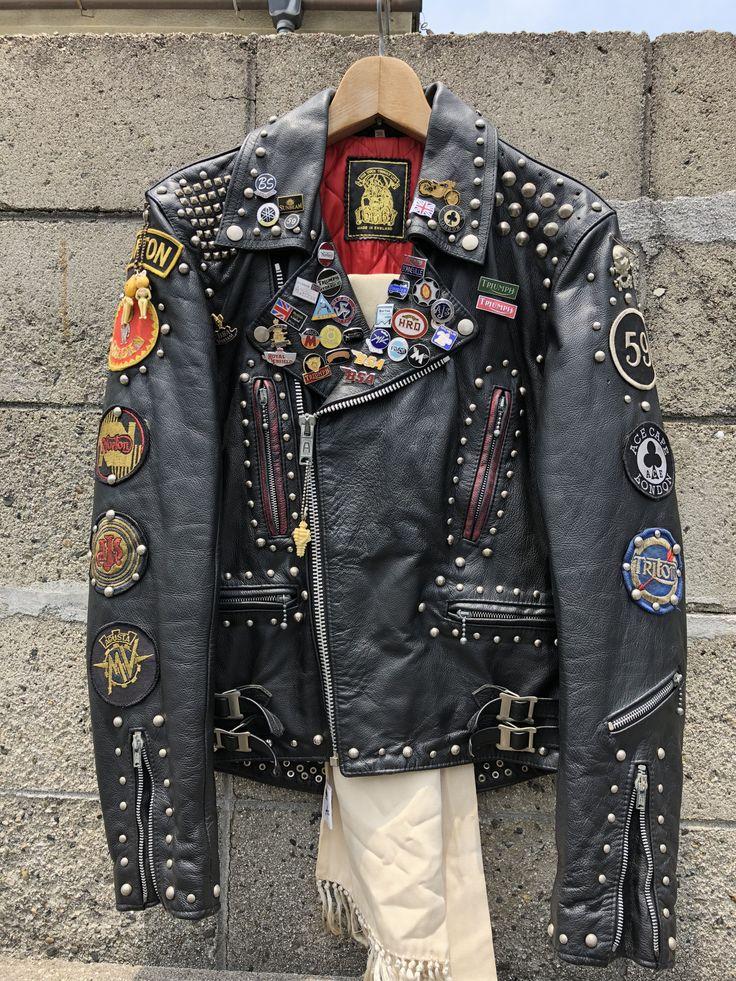 Rocker's leather jacket Lona e couro, Roupas, Homens de