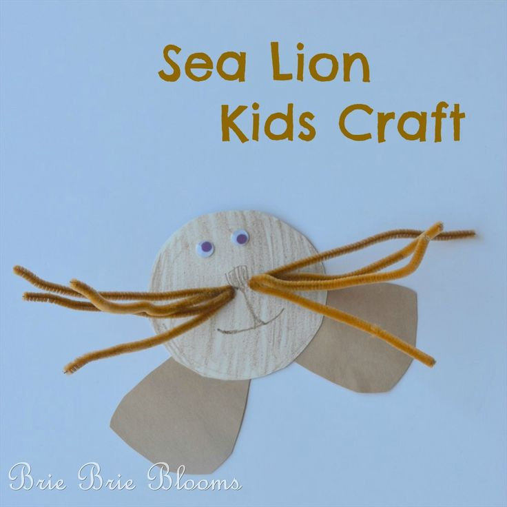 Sea Lion Kids Craft - Adorable!!