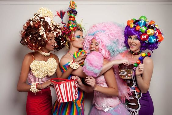 Candy Girls | Kostüm Idee für Gruppen zu Karneval, Halloween & Fasching (Diy Halloween)