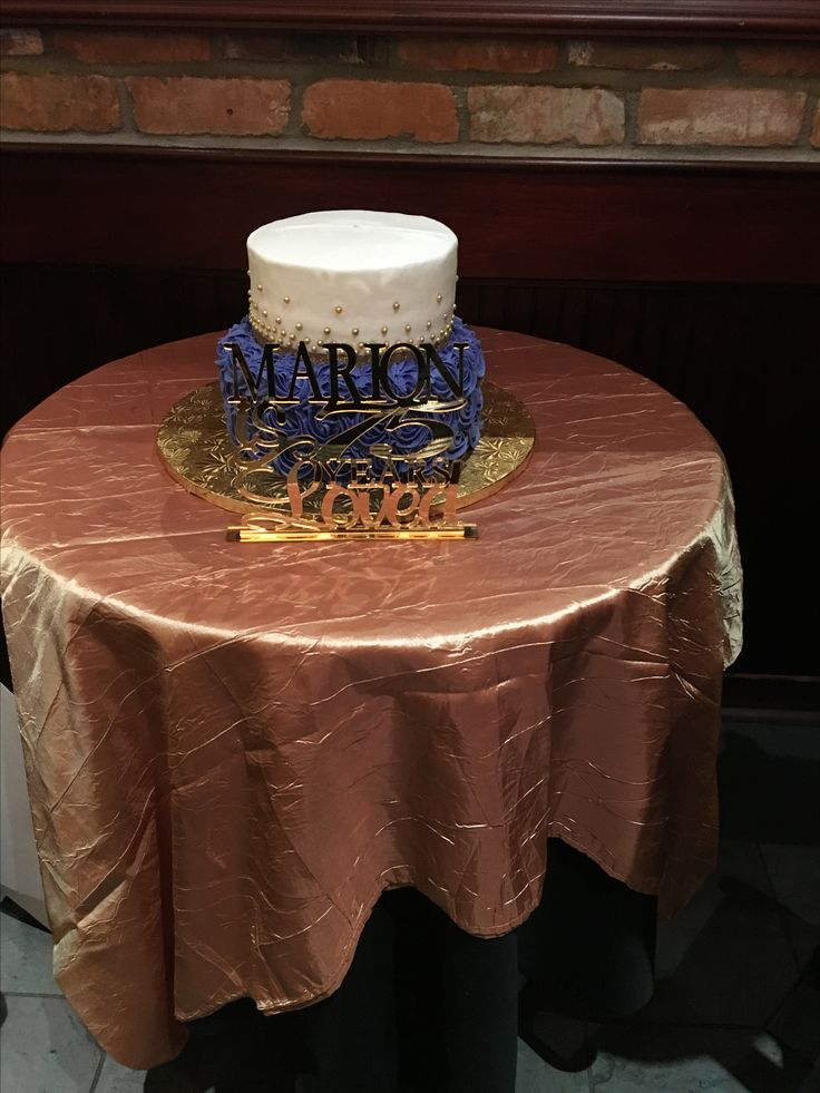 75th Birthday cake and topper