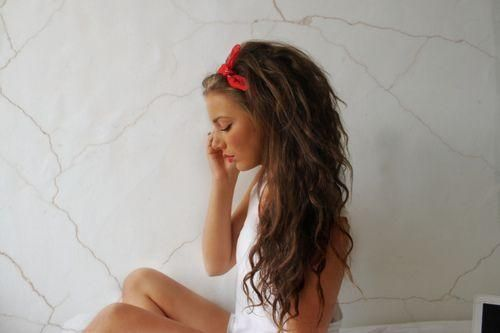 Messy Hair Bandana Headband - Im so doing this when my hair gets to the length that I want it!