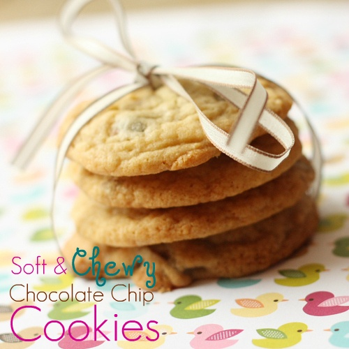 Soft & Chewy Chocolate Chip Cookies ~ Mmm...is for Mommy