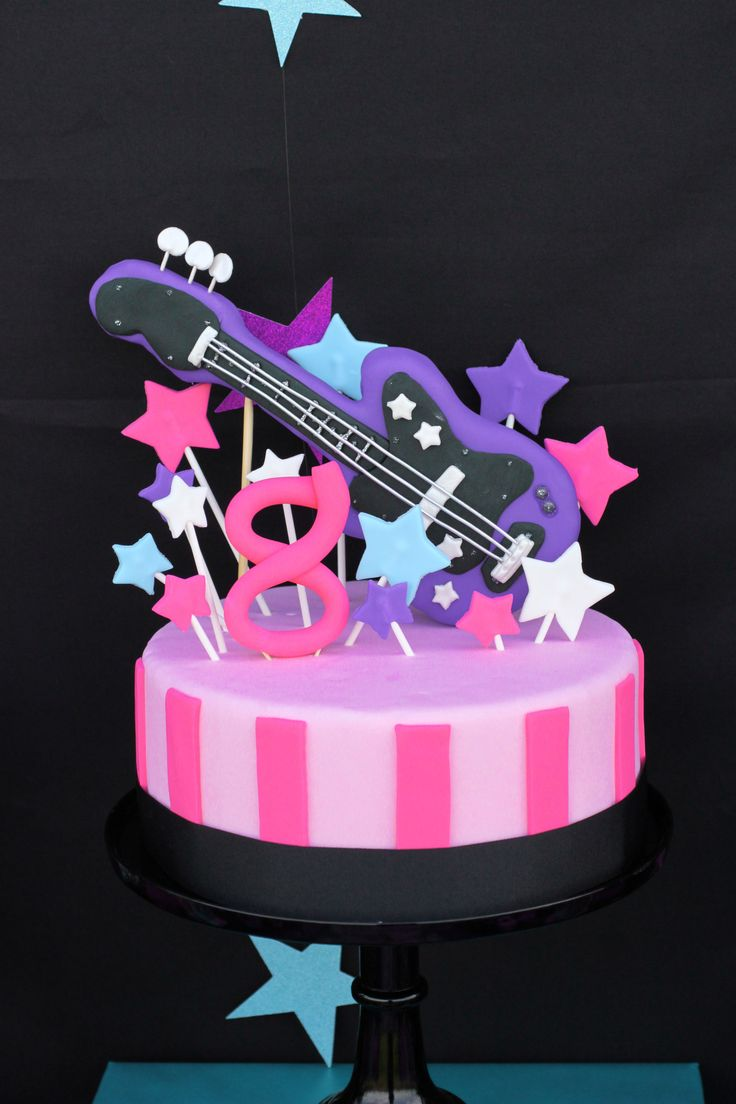 Rockstar Birthday Cake #rockstar #cake rock star Girl