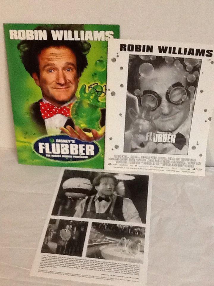 Flubber Robin Williams Movie Photo Press Kit Folder Notes Marcia Gay Harden 1997 #RIPRobinWilliams