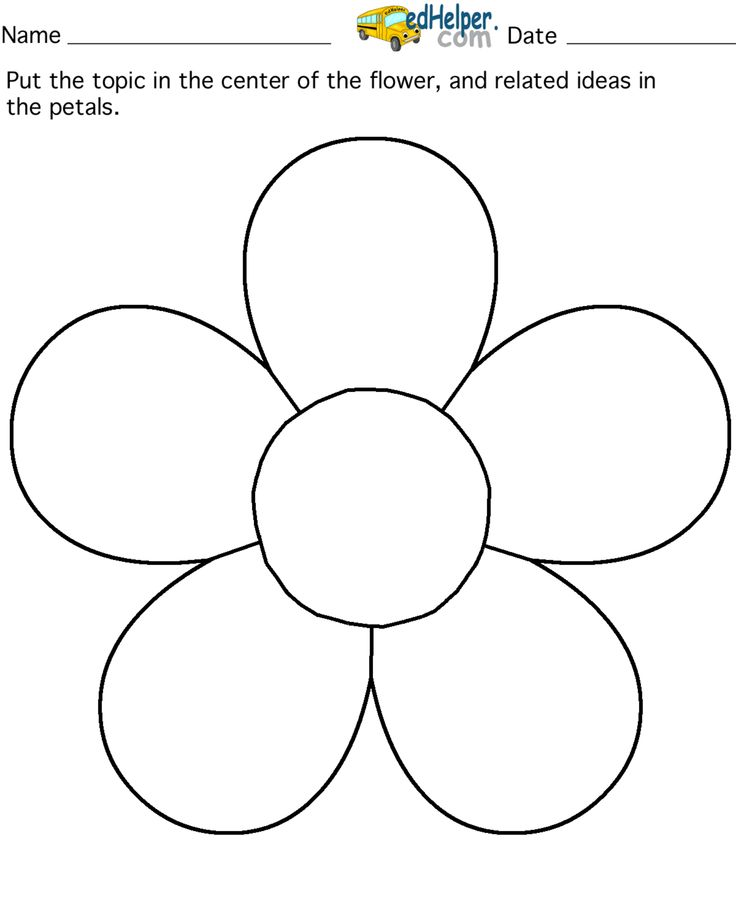 Image result for printable flower template cut out Paper Flowers - template