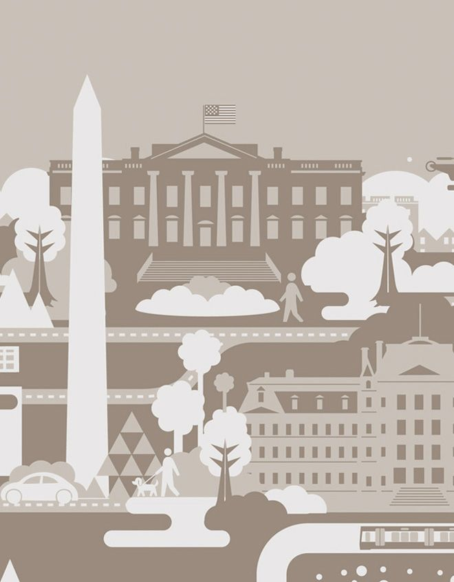 Crush | Ogilvy Washington Mural - Building and Cities Illustration